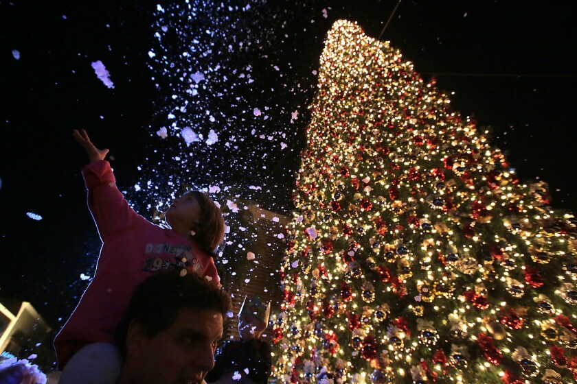 What mall has the tallest Christmas tree? That comes at a price