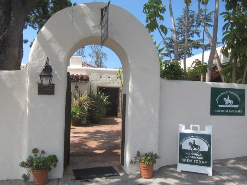 The former entrance to the Rancho Santa Fe Historical Society was not part of the original structure.