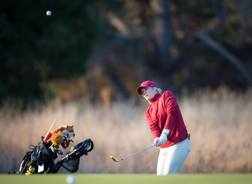 USC's Amelia Garvey at Stanford Golf Course during the Stanford Intercollegiate on Oct. 11, 2019.