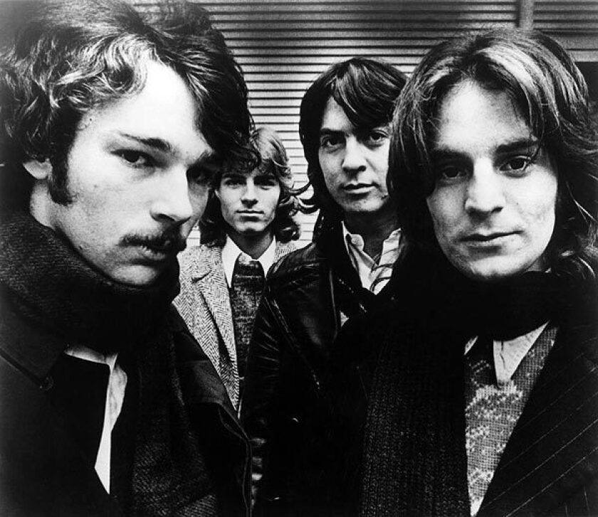 Chilton, right, poses with his Big Star bandmates, from left, Chris Bell, Jody Stephens and Andy Hummel, in 1972. Like the Velvet Underground, Big Star's influence developed well after the band no longer existed, influencing acts from R.E.M. and the Posies to the Bangles and Teenage Fanclub.