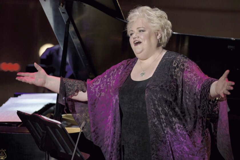 Stephanie Blythe at Lincoln Center, singing songs sung by Kate Smith. Photo: Lincoln Center