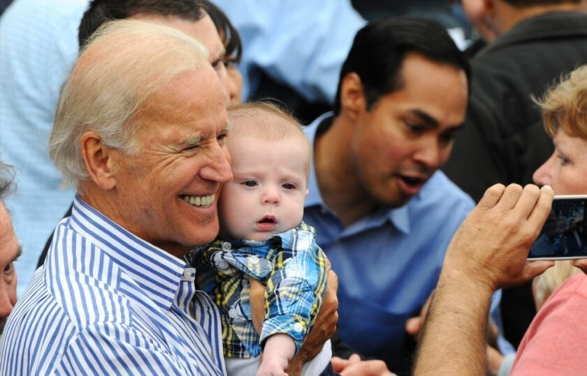 Vice President Joe Biden likes babies but is less fond of Republicans, sometimes comparing them to Neanderthals.