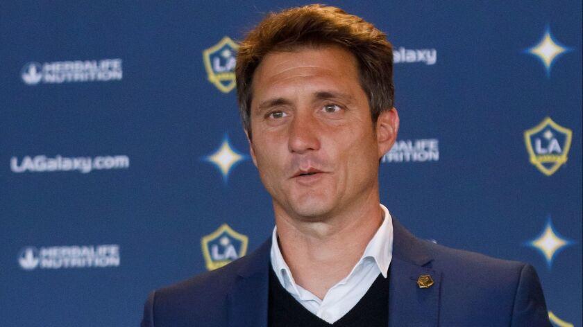 Former Galaxy coach Guillermo Barros Schelotto.