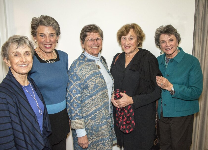 La Jollans in attendance include Susan Goulian, Wendy Brody, Connie Beardsley, Maureen Brown and Joan Bernstein