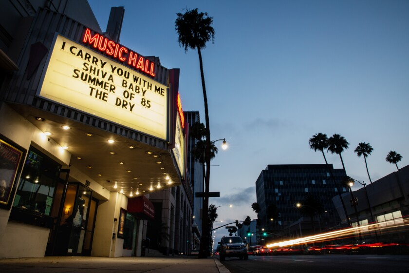 The Lumiere Cinema at The Music Hall, on Wilshire Blvd, Beverly Hills, CA,