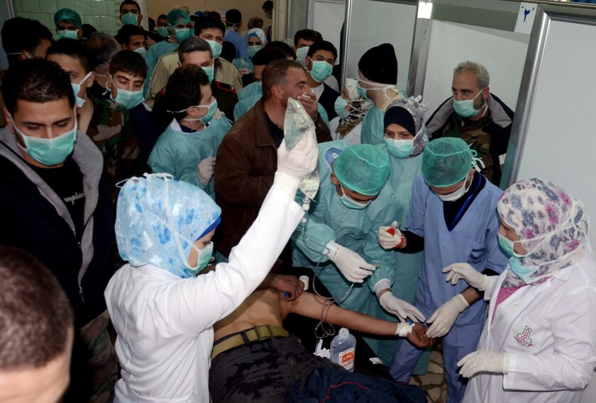 Syria conflict: Chemical weapons alleged