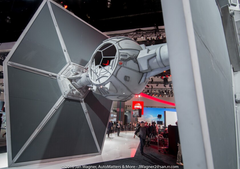 TIE fighter at the LA Auto Show