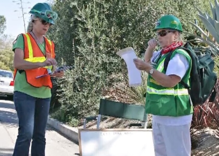 Members of Del Mar's Community Emergency Response Team (CERT) are surveying the city's neighborhoods to ask questions related to the coronavirus.