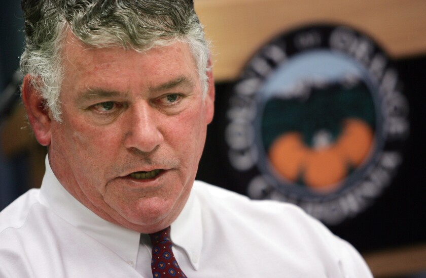 Former Orange County chief executive officer Tom Mauk, who was involved in a double-fatal accident on the 57 Freeway.