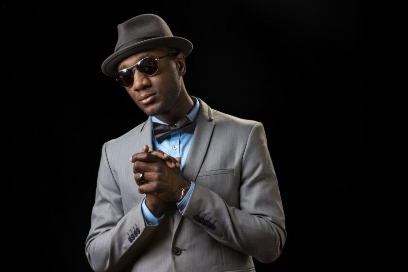 R&B; singer Aloe Blacc.