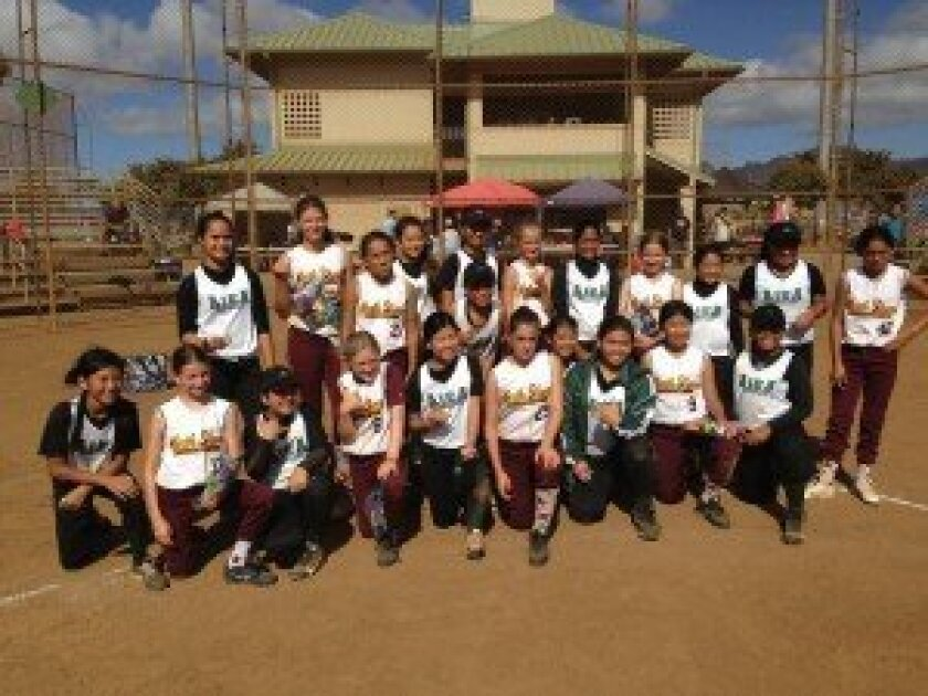 North Shore Softball league players.
