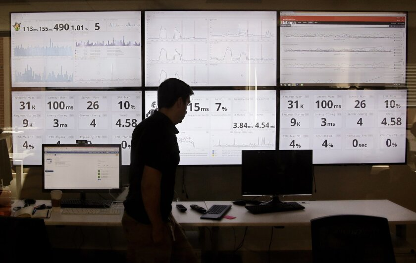 The daily fantasy sports market has swelled into a multibillion-dollar business in just a few years. Above, screens at DraftKings display statistics.
