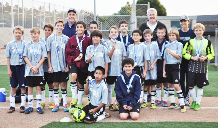 The DMCV Sharks Boys Division 4 team (U12) competed in the recent La Jolla All-Star Recreation Soccer Tournament.