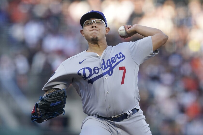 Los Angeles Dodgers' Julio Urias