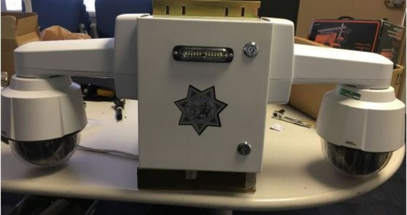 An example of a camera that the Lemon Grove sheriff's department will be using for footage at several parks in the city.