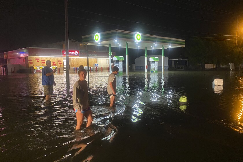 Floodwaters in North Myrtle Beach, S.C.