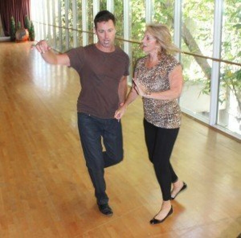 Realtor Maxine Gellens rehearses for La Jolla Dancing with the Stars