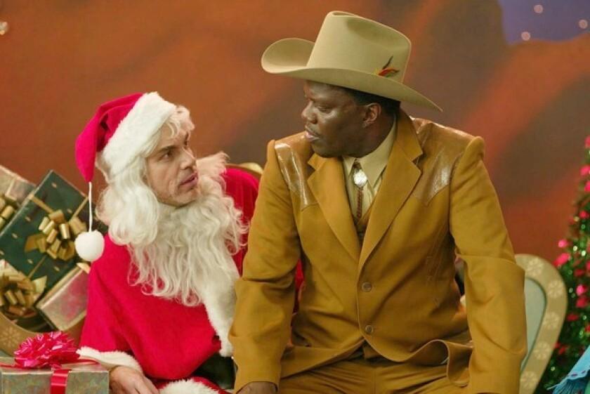 """Billy Bob Thornton and Bernie Mac in """"Bad Santa"""""""