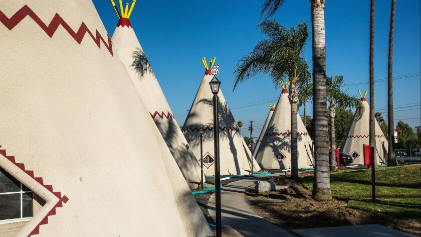 The Wigwam Motel in Rialto. Spend the night in a teepee!