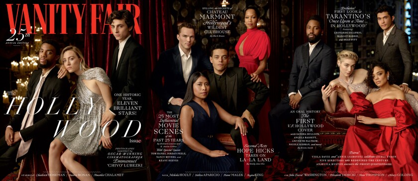 Hollywood 2019 cover of Vanity Fair magazine. This is for Image section cover story on Radhika Jone