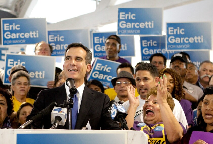 Eric Garcetti woos female voters; says campaign will finish strong