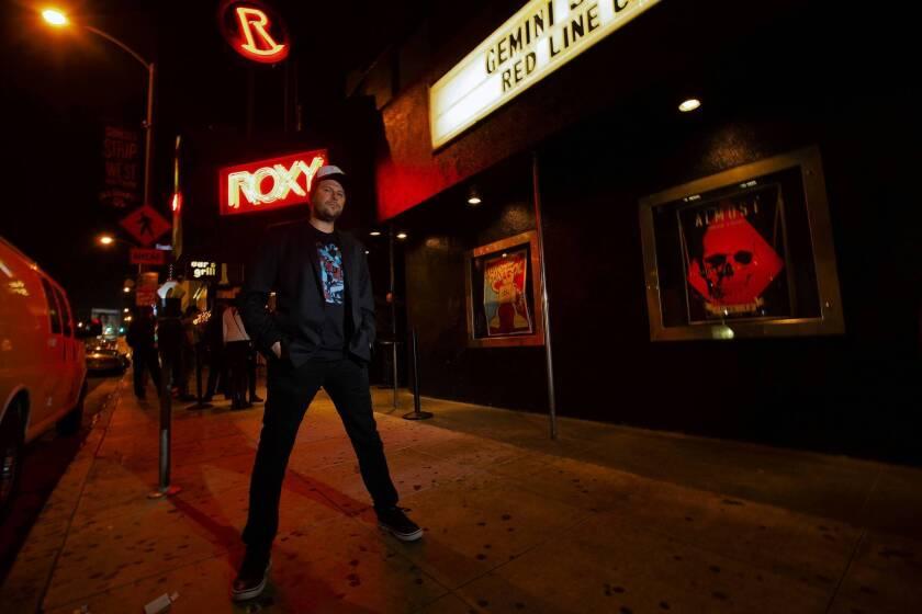 Nic Adler poses on the Sunset Strip.