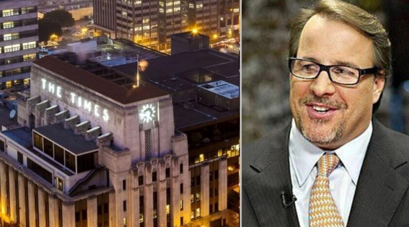 L.A. investment firm Oaktree Capital Management is continuing to push Los Angeles Times owner Tribune Publishing, led by Chairman Michael Ferro, above, to accept a buyout offer from Gannett Co.