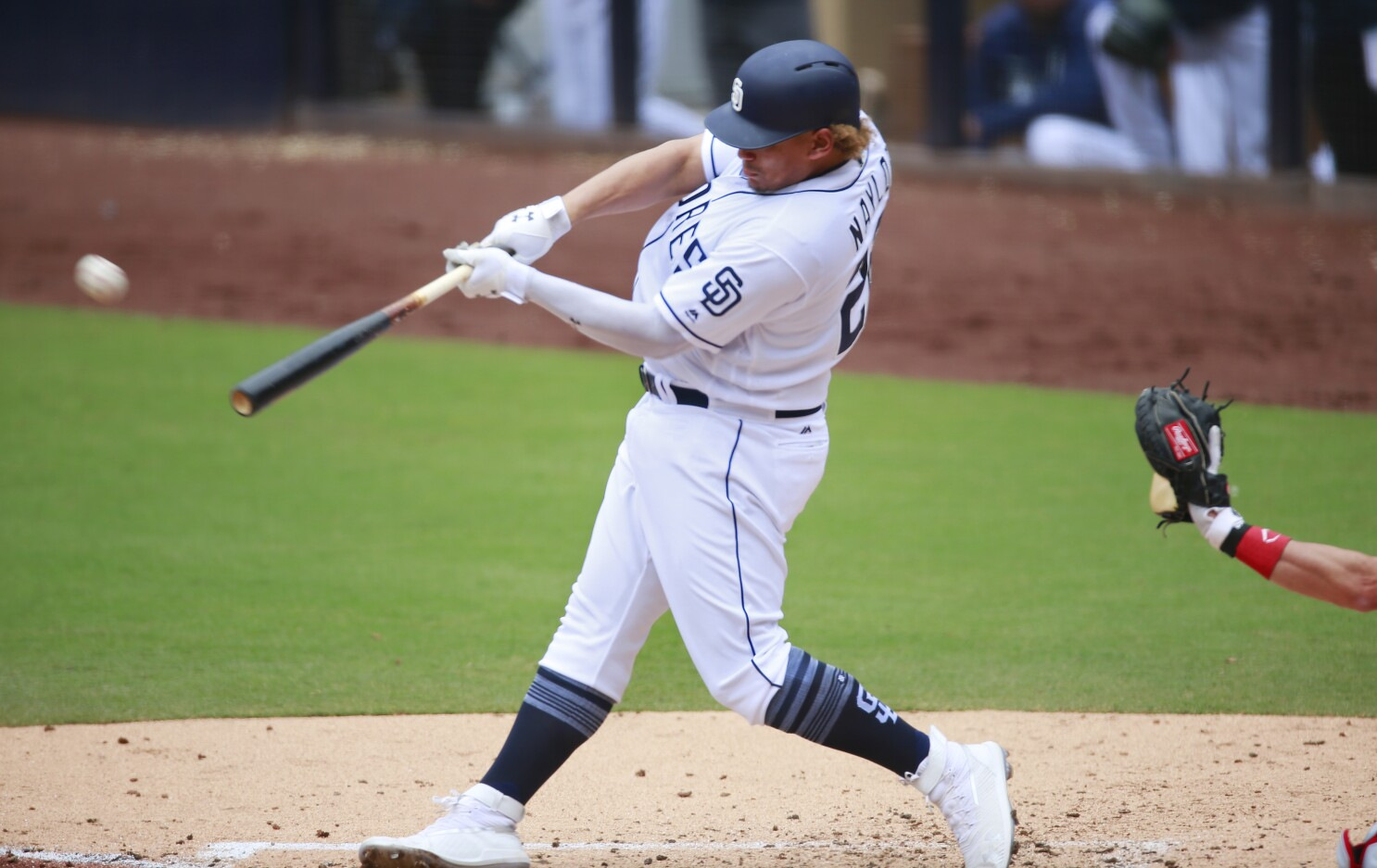 ce604fc5ea685d Padres notes: Naylor makes case to stay in majors; Machado's 'bittersweet'  move