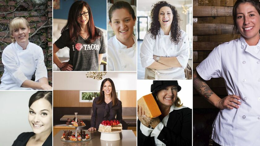 The female chefs featured in this year's Festa Della Donna.