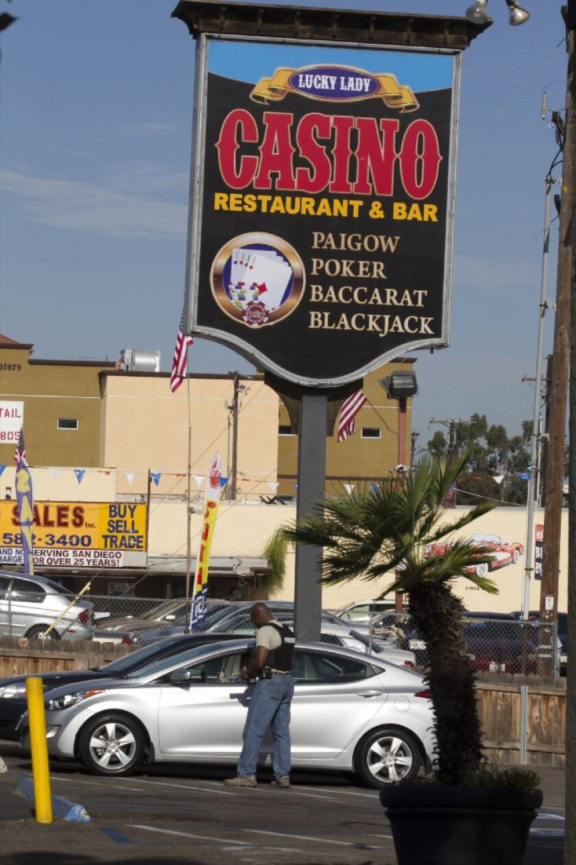 The FBI and San Diego Police Department executed a search warrant on the Lucky Lady card room on El Cajon Blvd in July 2016.