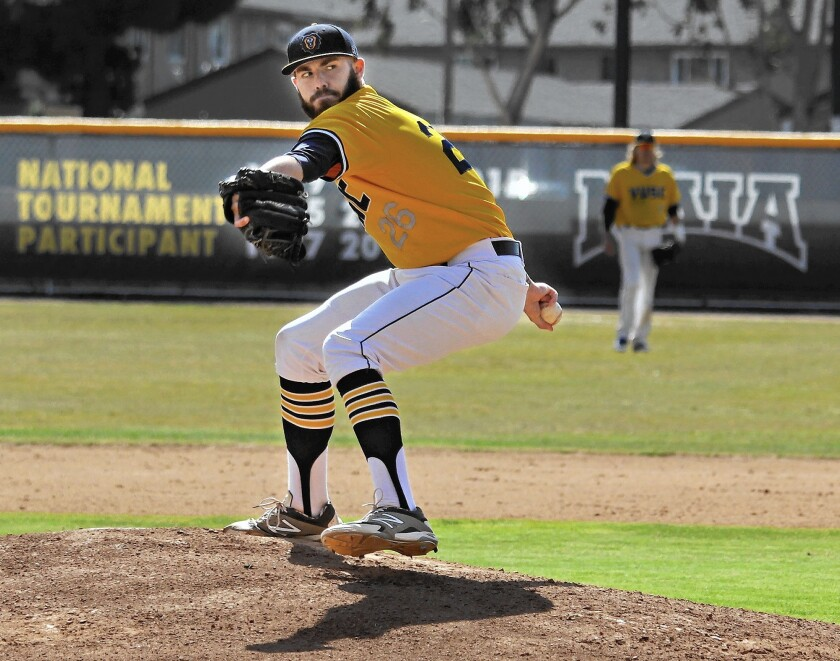 Vanguard University pitcher Sean Isaac is 13-1 this season with a 2.15 earned-run average.