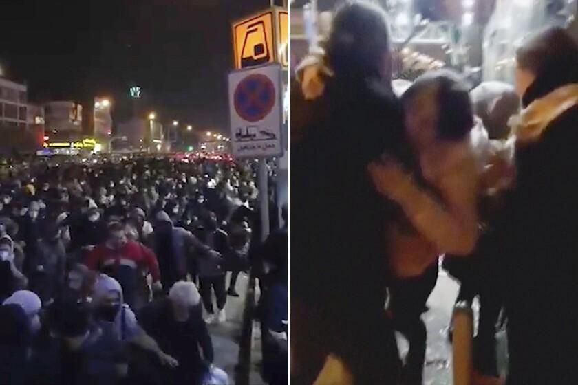 Resulta ng larawan para sa VIDEO: Iran Protesters Shot, Tear-Gassed by Police on Tehran Streets