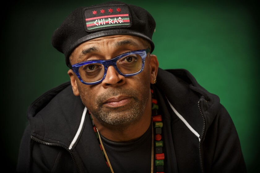 Director Spike Lee, photographed in Beverly Hills in November. The filmmaker says he won't attend this year's Oscars ceremony.