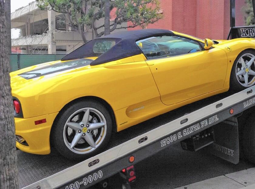 Ferrari 360 Spider seized