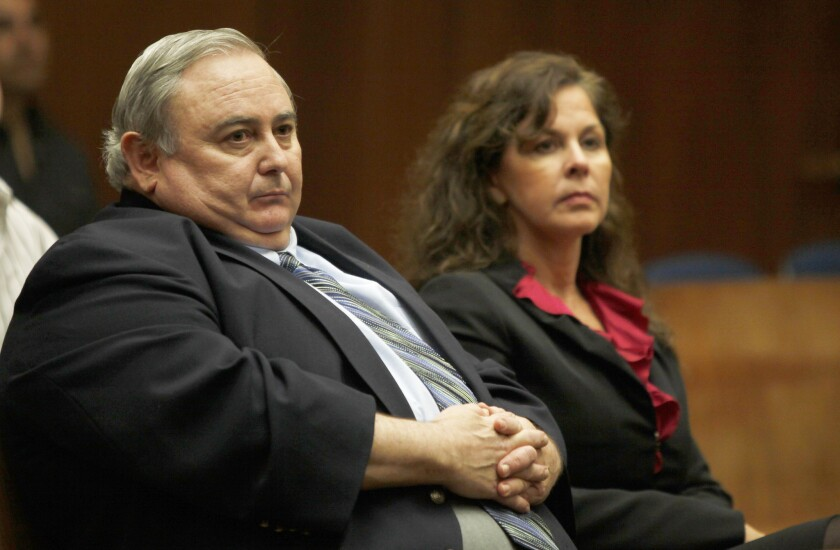 Former Bell City Administrator Robert Rizzo and former Asssistant City Administrator Angela Spaccia in court in 2012.