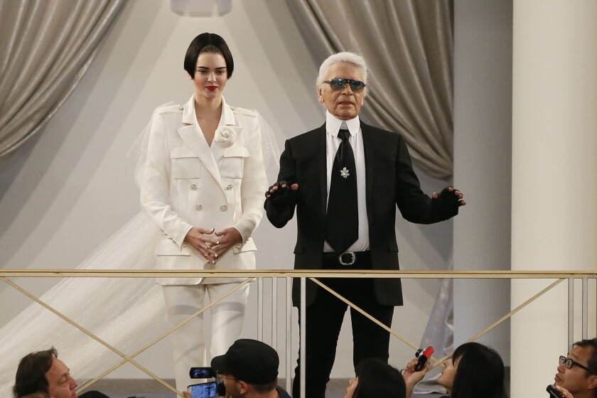 b55b1aee7f0 Kendall Jenner is Karl Lagerfeld's supermodel bride at Chanel ...