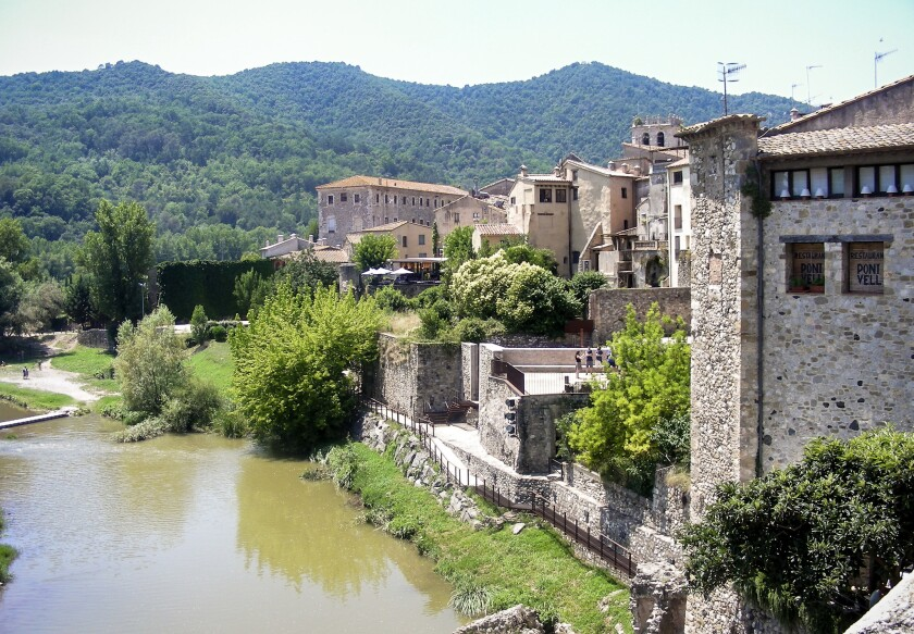 The small village of Besalu is packed with historic sites.