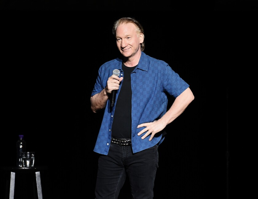 A photo of Bill Maher Performing During New York Comedy Festival