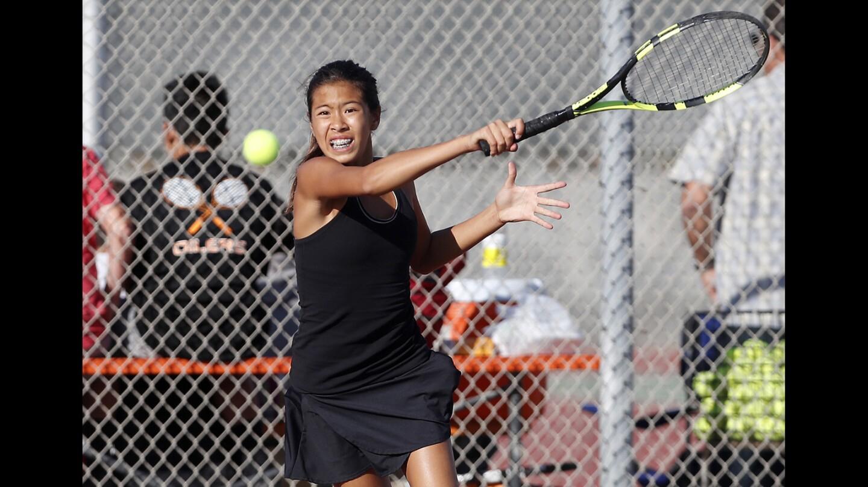 Photo Gallery: Huntington Beach vs. South Pasadena in girls' tennis