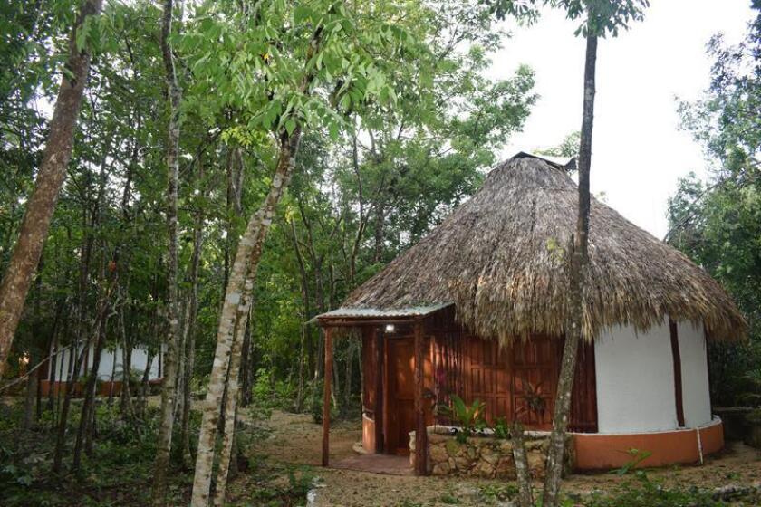 Fotografía del 26 de diciembre de 2017, cedida por la Red de Turismo Indígena de México A,C, muestra al Centro Ecoturístico de Kantemó, en Quintana Roo (México). EFE/RED DE TURISMO INDÍGENA/SOLO USO EDITORIAL/NO VENTAS