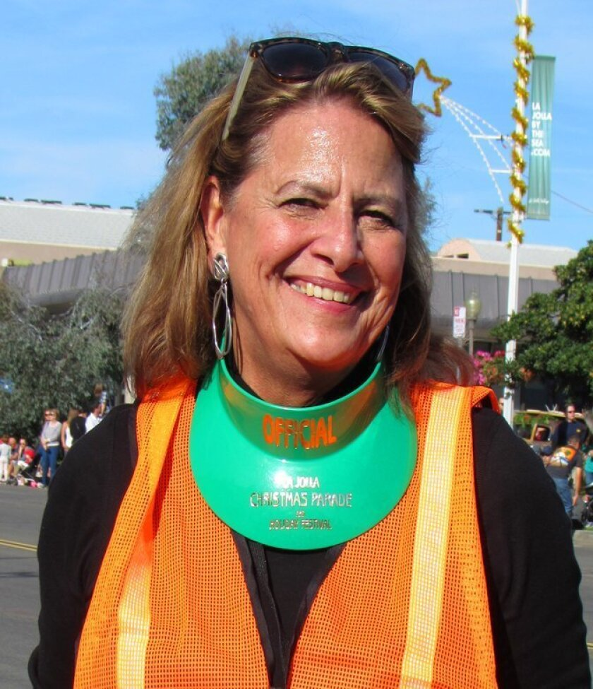 Ann Kerr Bache, director of the La Jolla Christmas Parade & Holiday Festival