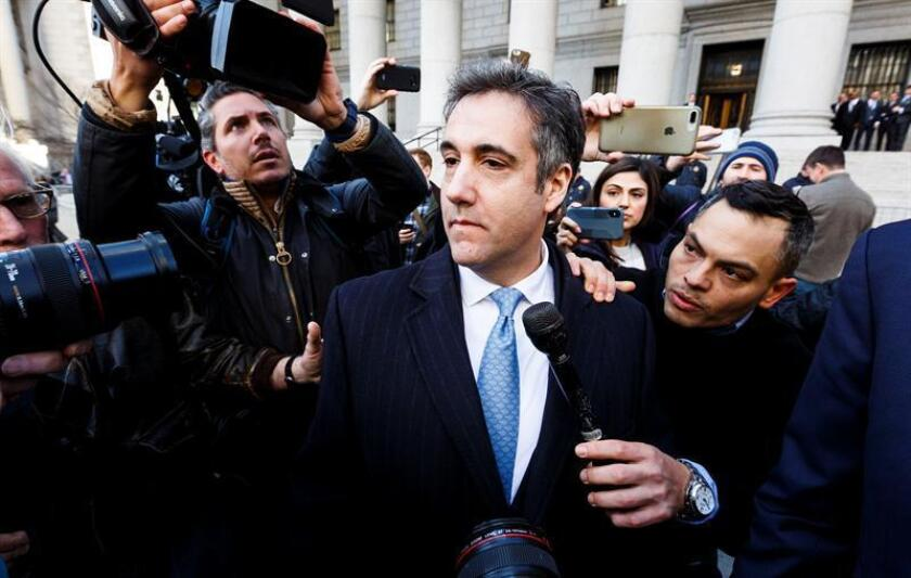 Michael Cohen (C), the former personal attorney of US President Donald Trump, leaves a federal court in New York on Nov. 29, 2018. EFE/EPA/JUSTIN LANE