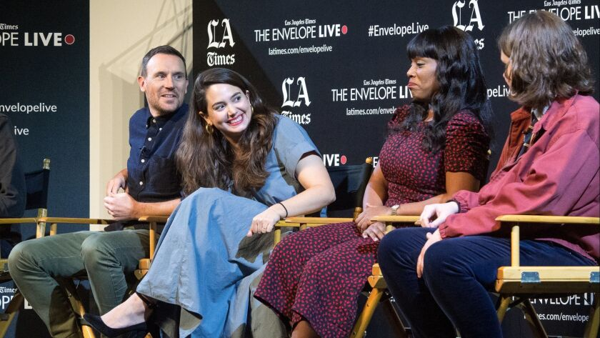 HOLLYWOOD, CA - DECEMBER 9, 2018: Directors?Darren Foster, Cristina Constantini, actors Serena McCal