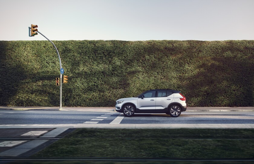 The Volvo XC40 Recharge electric car