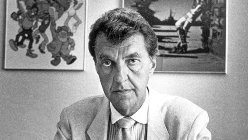 Lou Scheimer, president of Filmation Studios, in 1987.