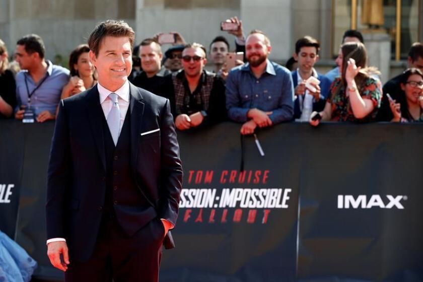 """El actor y productor estadounidense Tom Cruise llega al estreno mundial de la sexta entrega de Misión Imposible, """"Fallout"""". EFE/Archivo"""