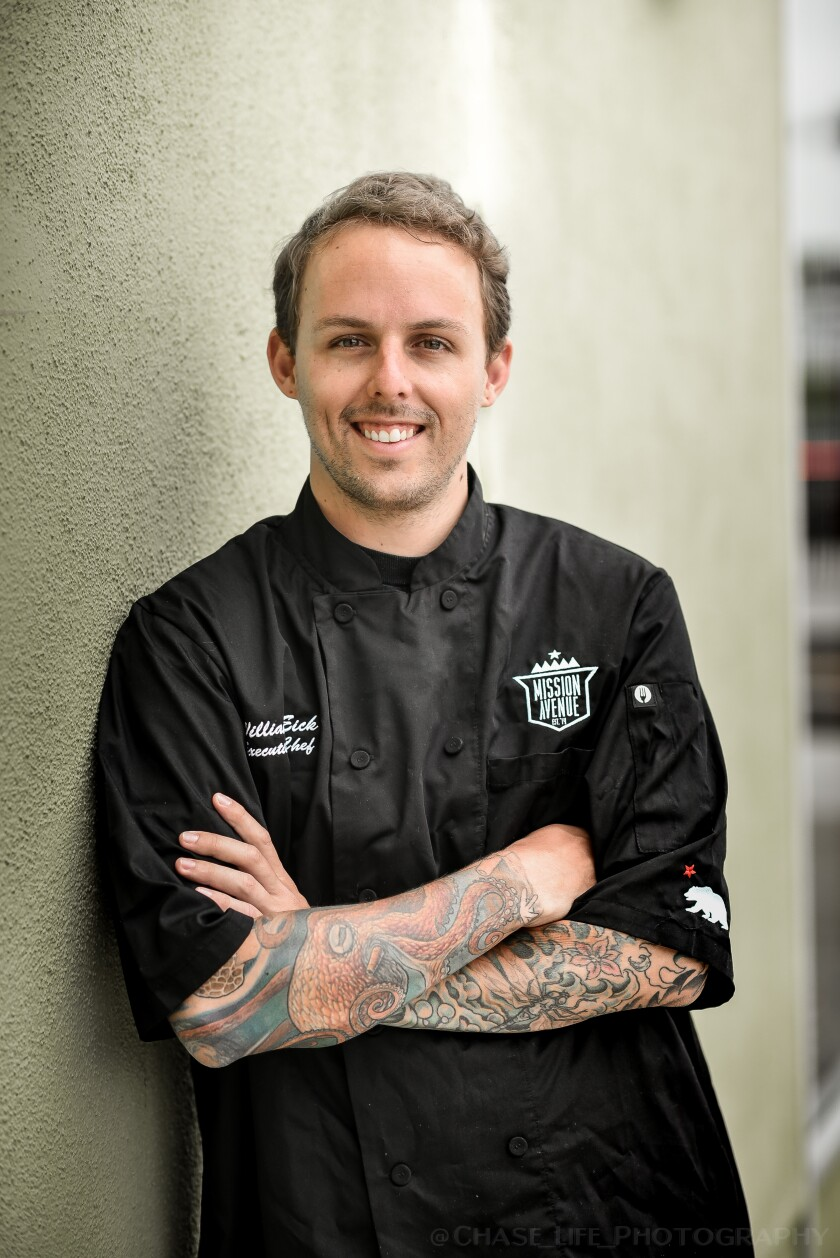 Chef William Eick is now serving a Matsu tasting menu three nights a week at just one table at Mission Ave Bar and Grill in Oceanside. Eick and Mission Ave owner Cameron Braselton plan to open a stand-alone Matsu restaurant next year in the Oceanside area and they're fine-tuning the concept with the limited tasting menu.