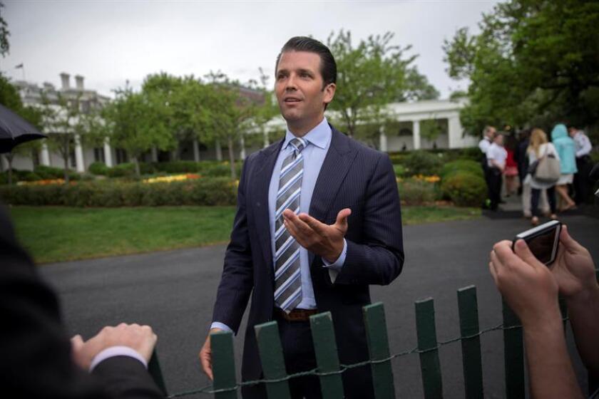 El hijo mayor del presidente, Donald Trump Jr., compareció este miércoles ante el Comité de Inteligencia de la Cámara Baja en el marco de la investigación sobre la presunta injerencia rusa en los pasados comicios presidenciales. EFE/ARCHIVO