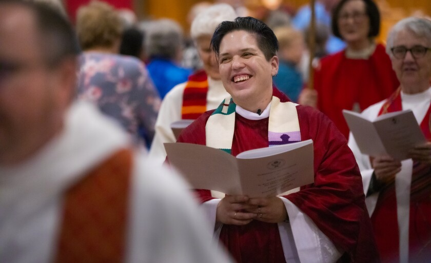 Kori Pacyniak, believed to be the first transgender, nonbinary person ordained as a priest in the Roman Catholic Womenpriests movement