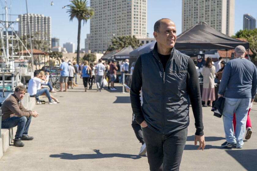 CNBC personality Marcus Lemonis visits San Diego's working waterfront.